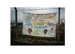 Cardiff banner p30 - Greenham Common